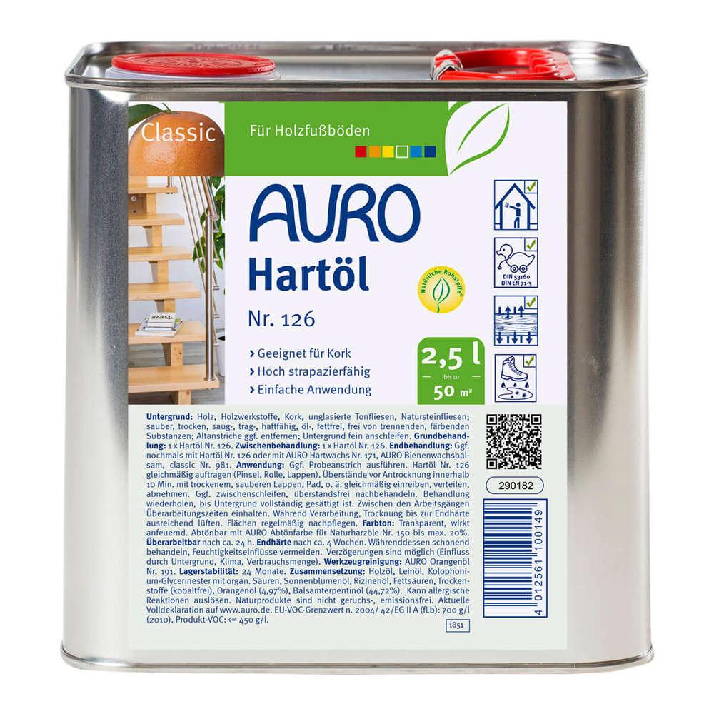 auro hartöl 126 2.5 l - huffer farben gmbh