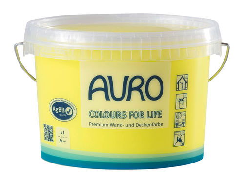 AURO Wandfarbe 555 brilliant yellow 05 1 l