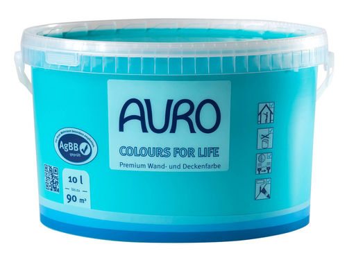 AURO Wandfarbe 555 brilliant yellow 05 10 l