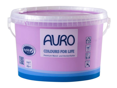 AURO Wandfarbe 555 brilliant yellow 25 2,5 l